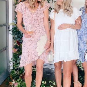 Like new WAYF polka dot midi dress